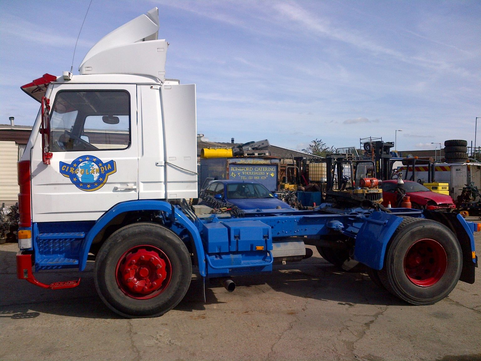 Tractor Trailer Head On : Left hand drive scania m trailer head tractor unit
