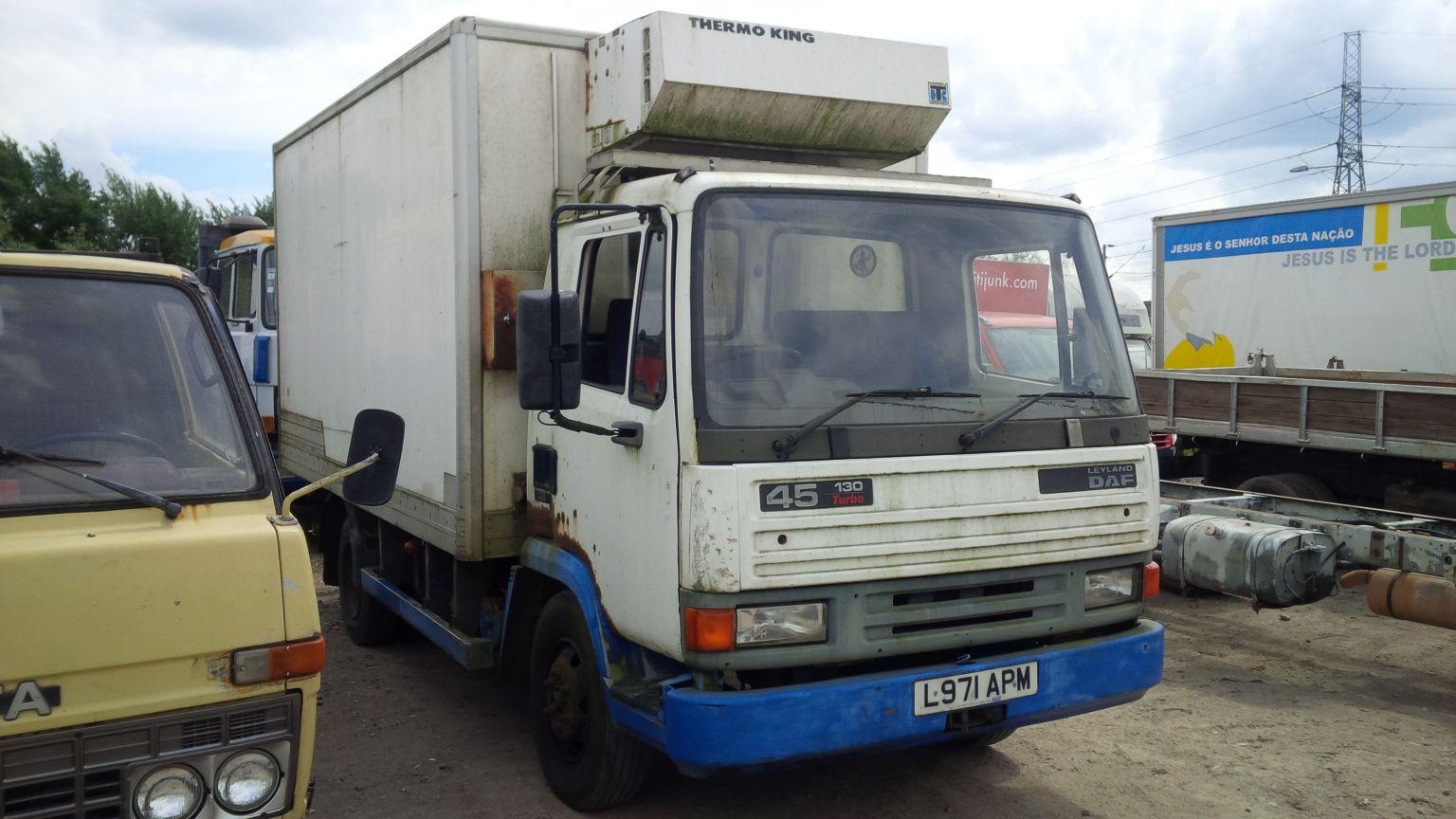 DAF 45 fridge box lorry.