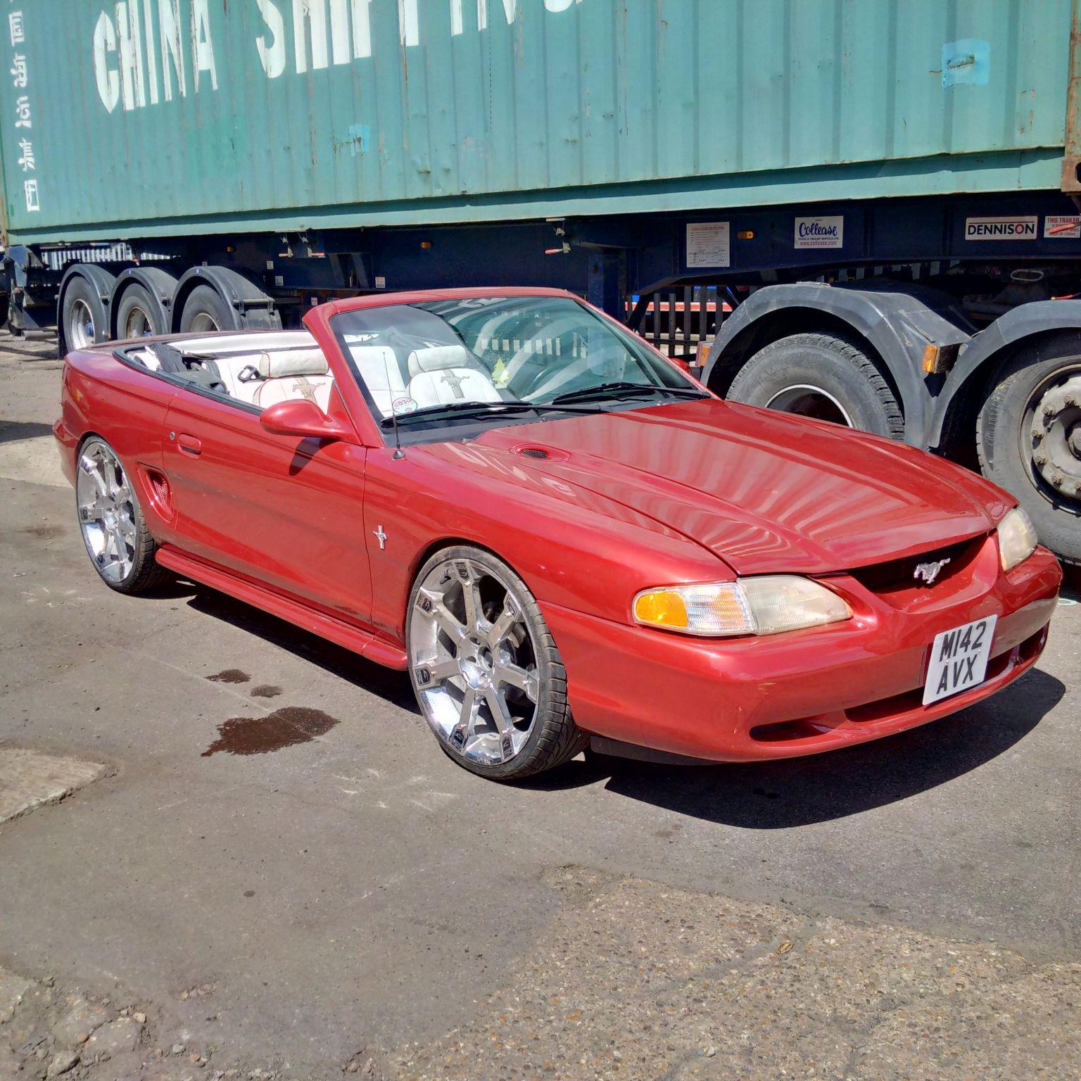 Left hand drive Ford Mustang 3.8 V6 convertible. UK registered.