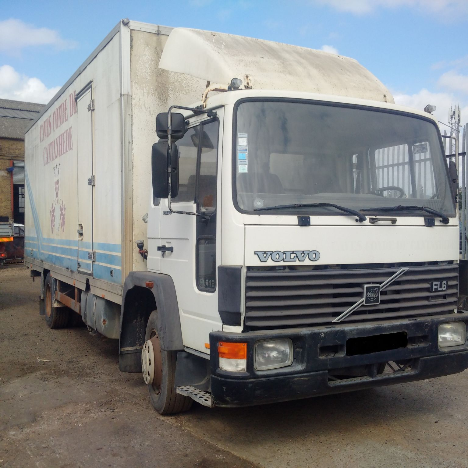 Left hand drive Volvo FL612.180 4×2 box lorry.