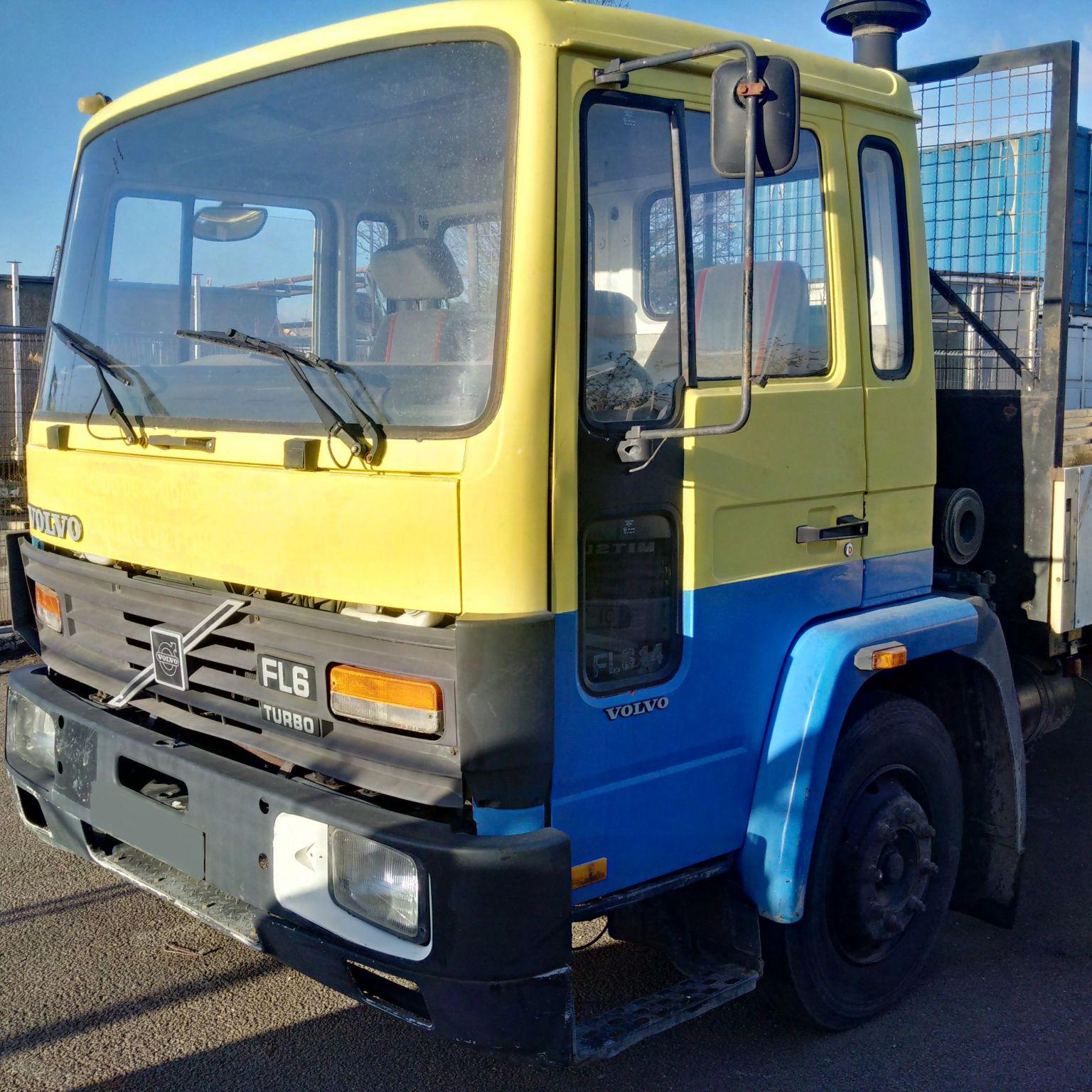 Left hand drive Volvo FL6 14 Ton dropside truck