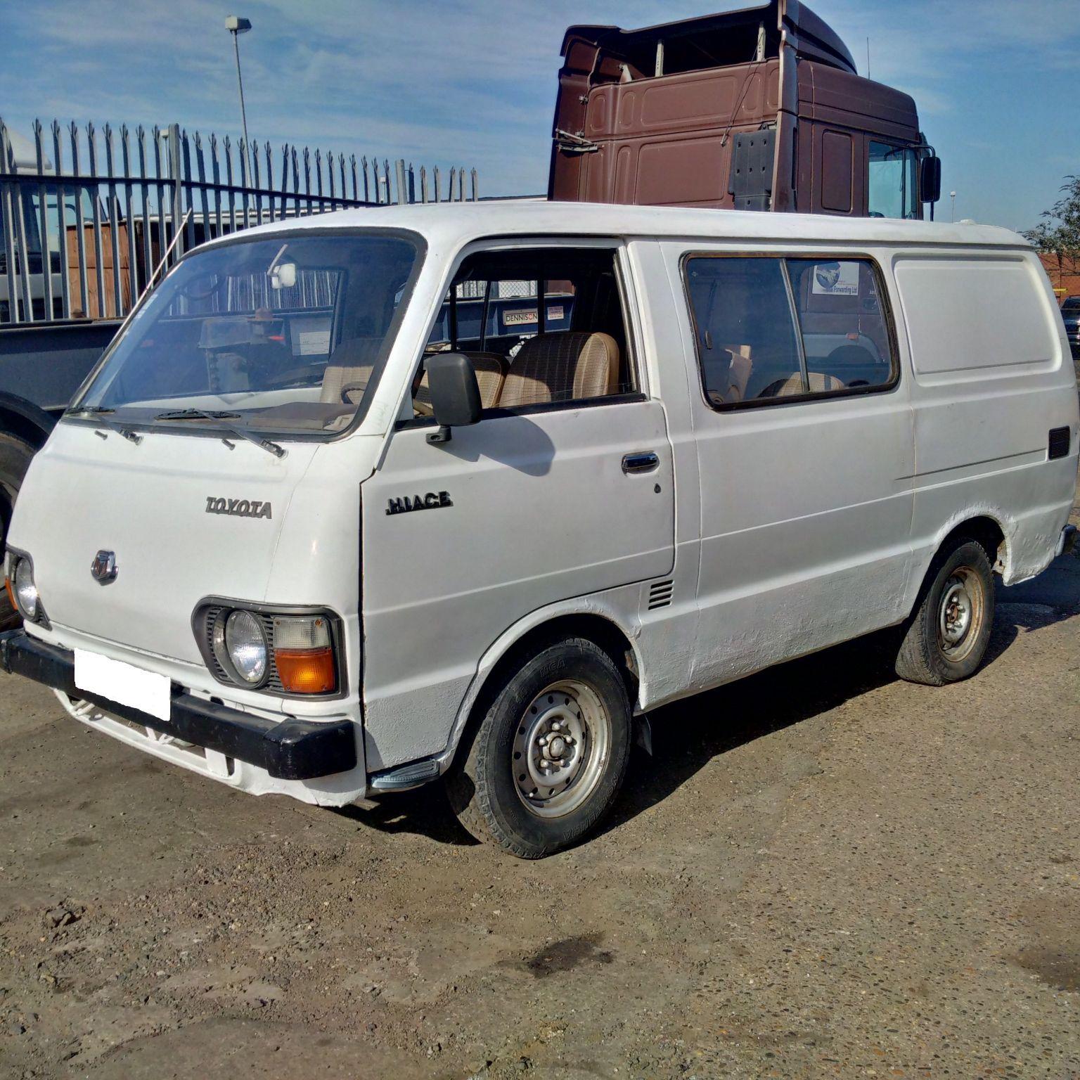 Left hand drive Toyota Hiace LH20 long wheel base mini bus. 1 L engine.