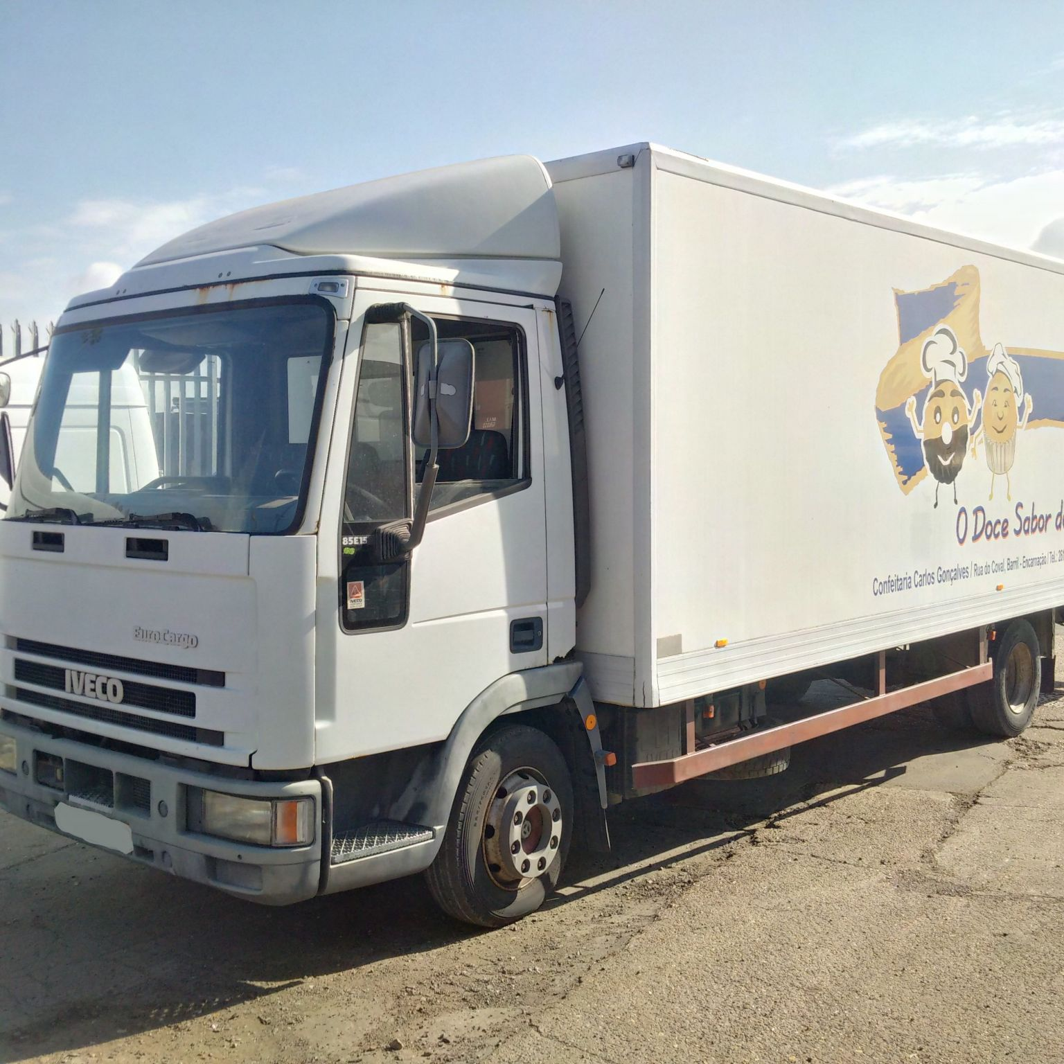 Left hand drive Iveco Eurocargo ML80E15 8 ton isothermic box lorry.