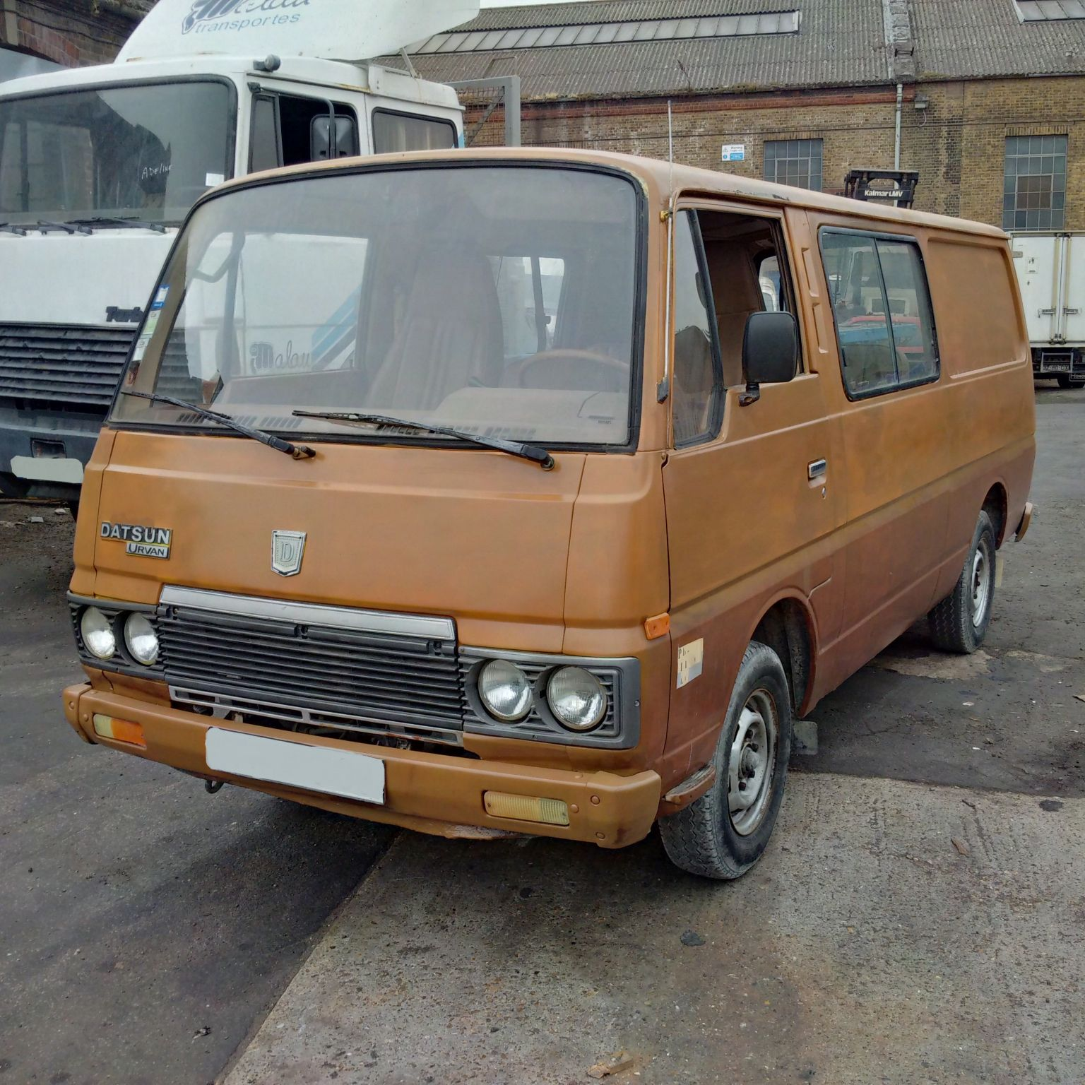 Left hand drive Nissan Urvan E23 long wheel base mini bus.