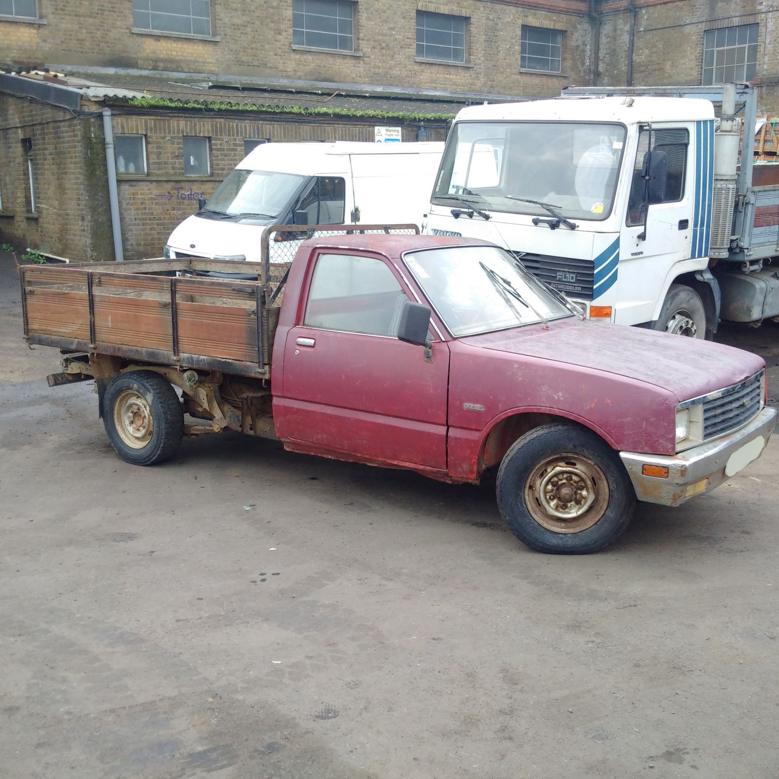 Left hand drive Bedford / Isuzu KBD 26 2.3 diesel pick up truck.