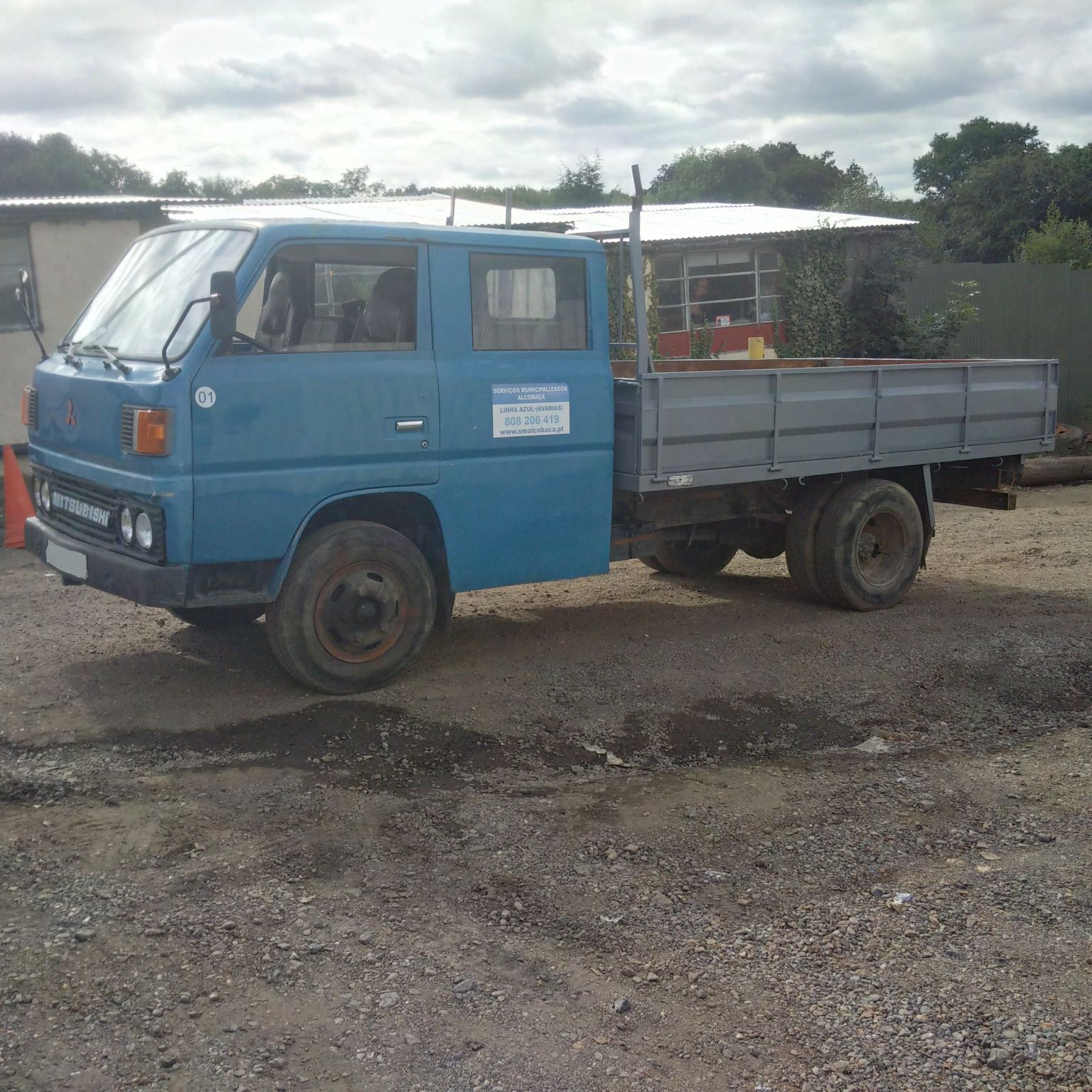 Left hand drive Mitsubishi Canter FE110 2.7D 5.5 Ton 6 tyres truck.