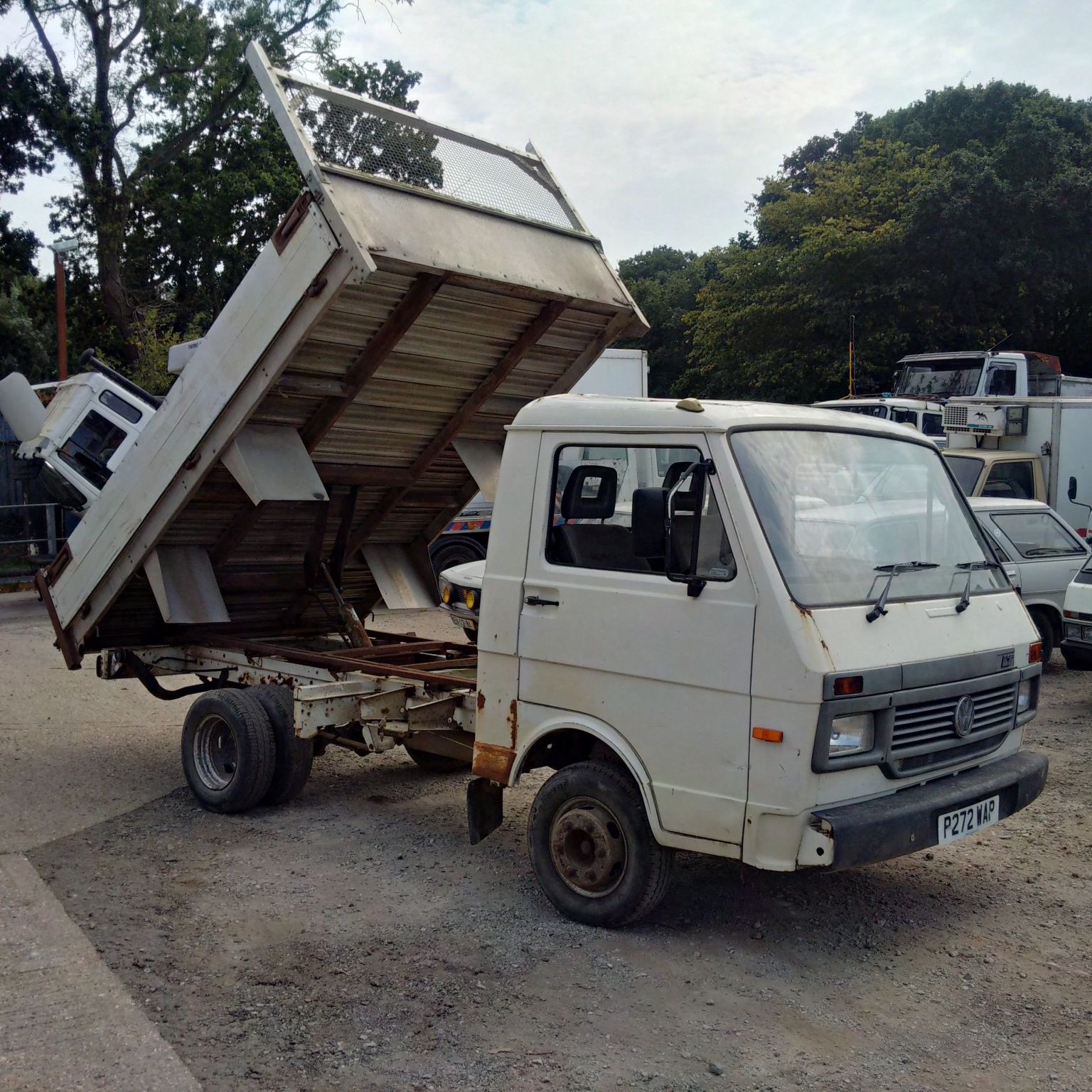 Volkswagen LT35 3.5 Ton tipper. 6 cylinder. On springs suspension.