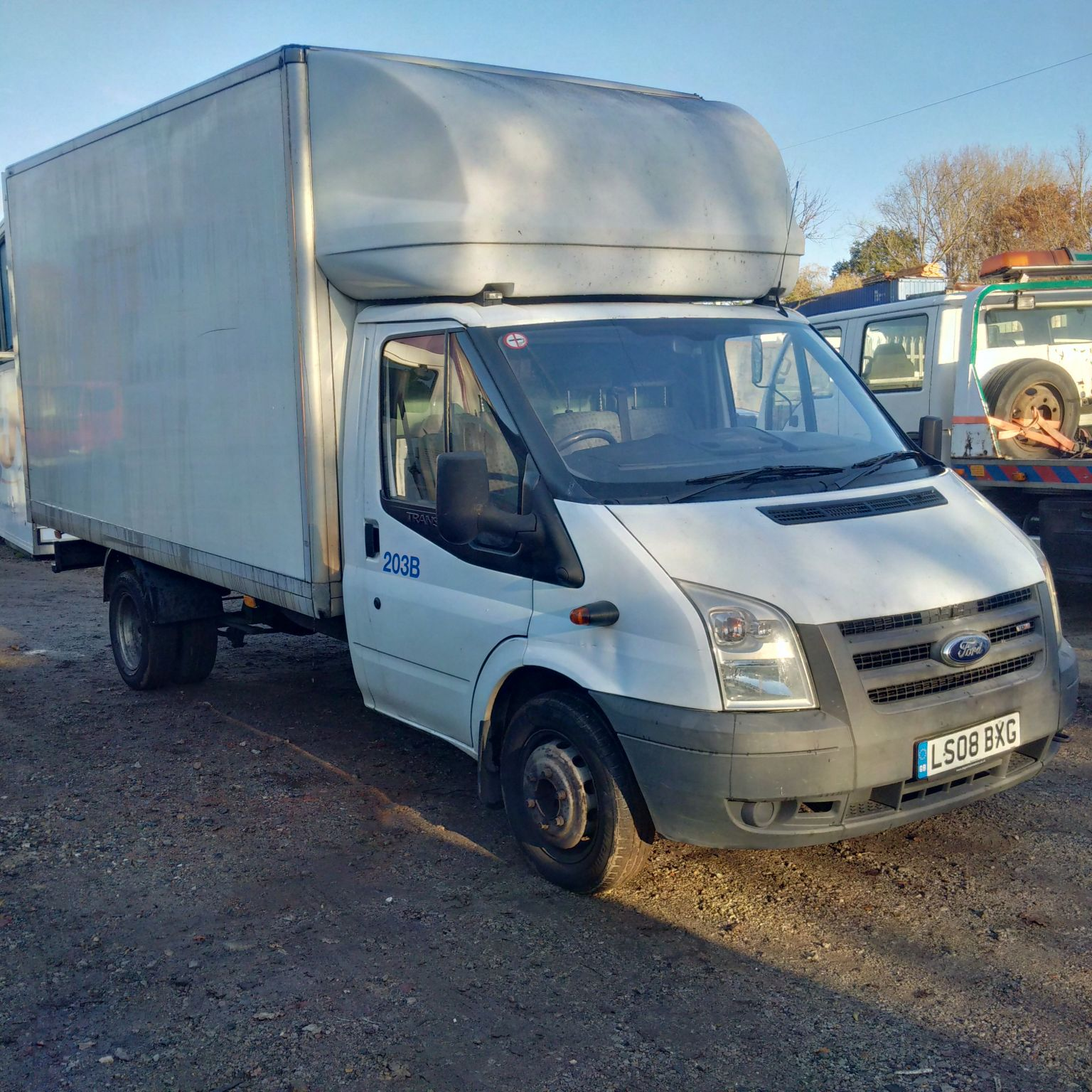 Swiss Vans Large Uk Ford: Ford Transit T350 2.4 TDCI RWD 6 Tyres Box Van.