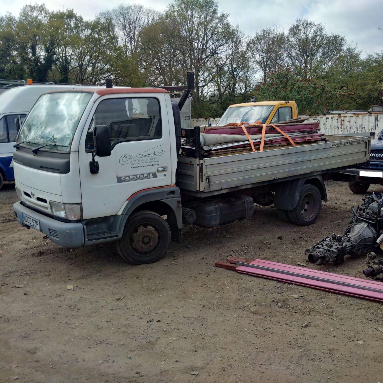 Nissan Cabstar E120 6 tyres 3.5 Ton truck.