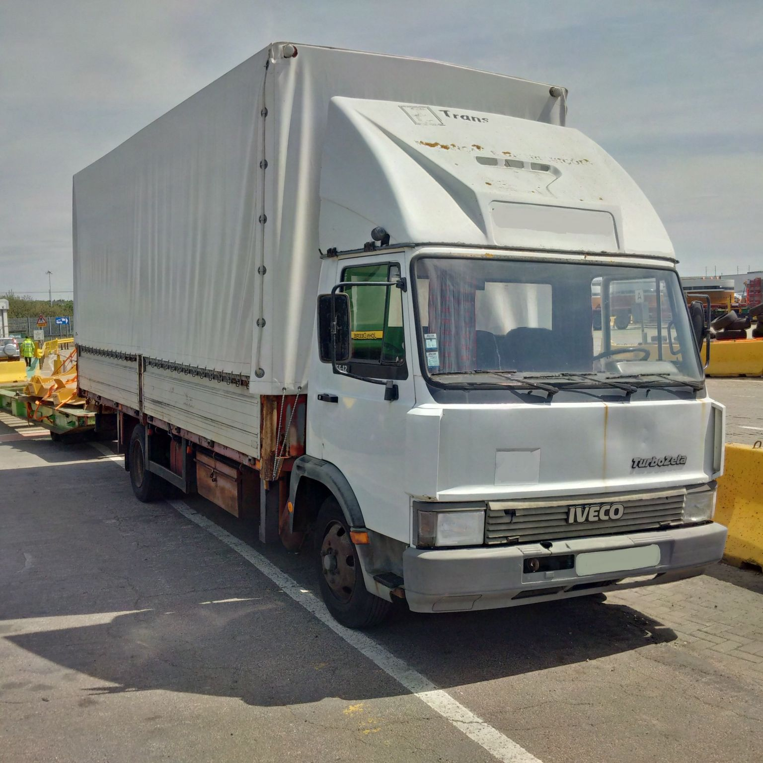 Left hand drive Iveco 65-12 Turbo Zeta 7.5 Ton curtainsider.