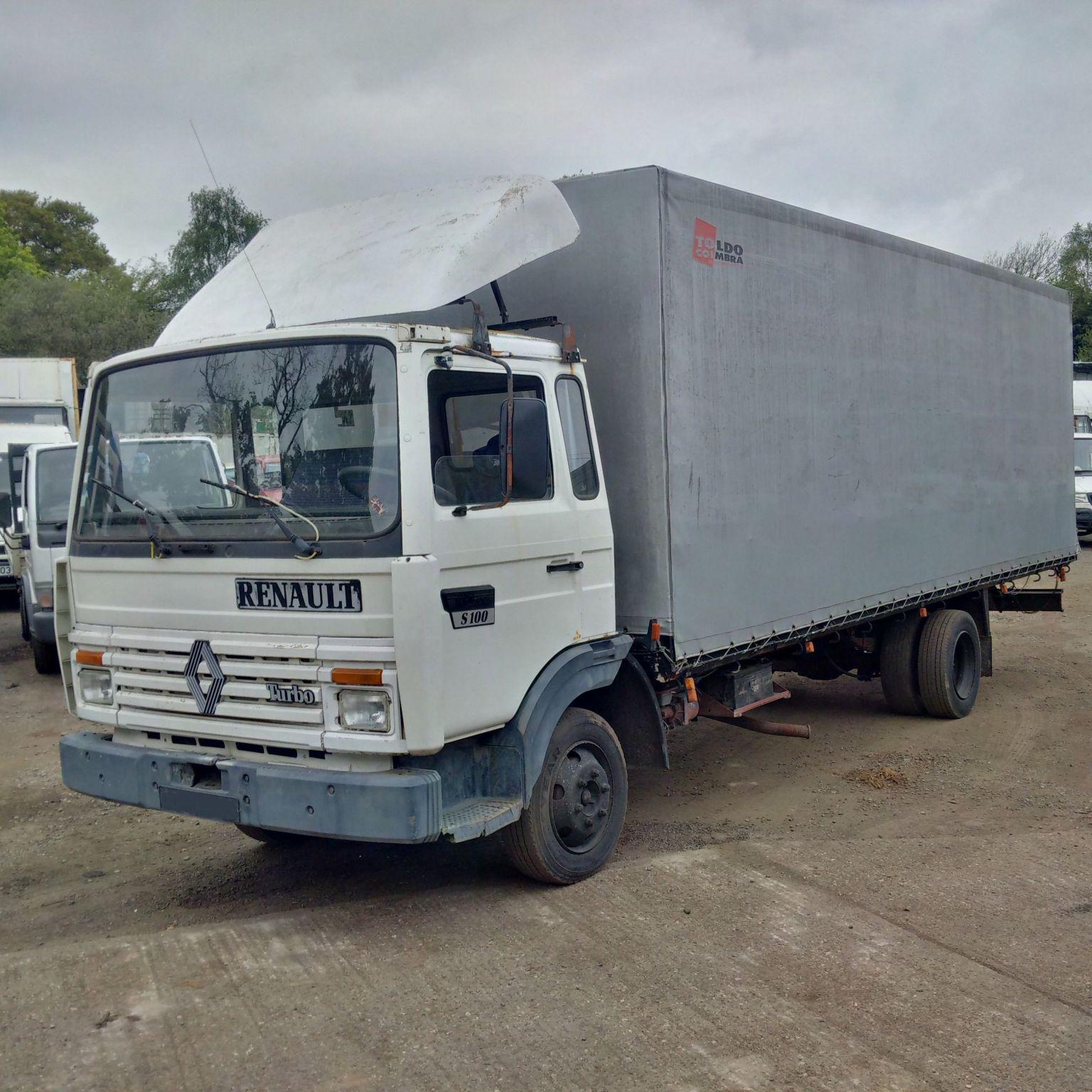 Left hand drive Renault Midliner S100 7.7 Ton tilt truck.