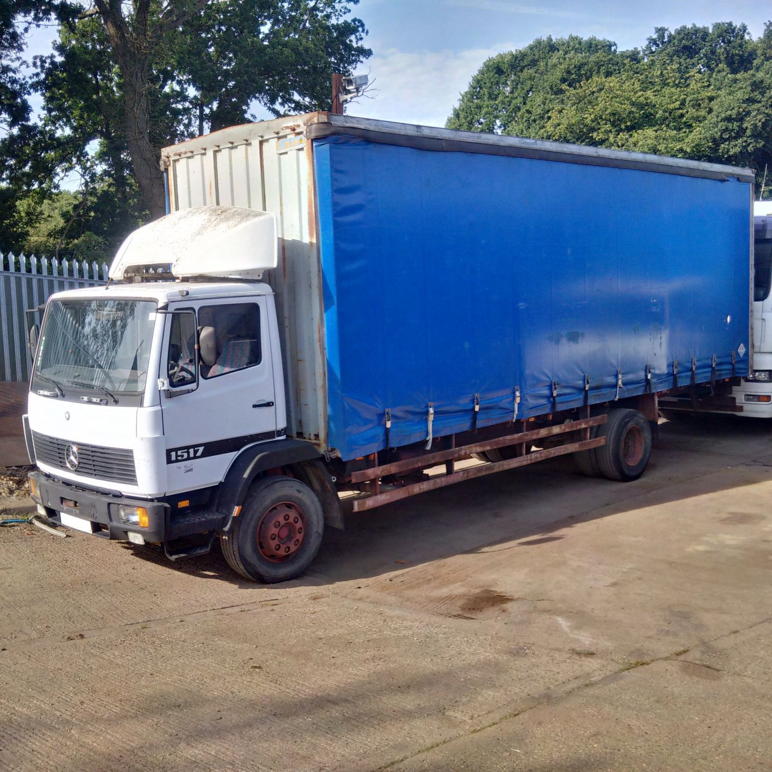 Left hand drive Mercedes Benz 1517 15 Ton curtainsider.