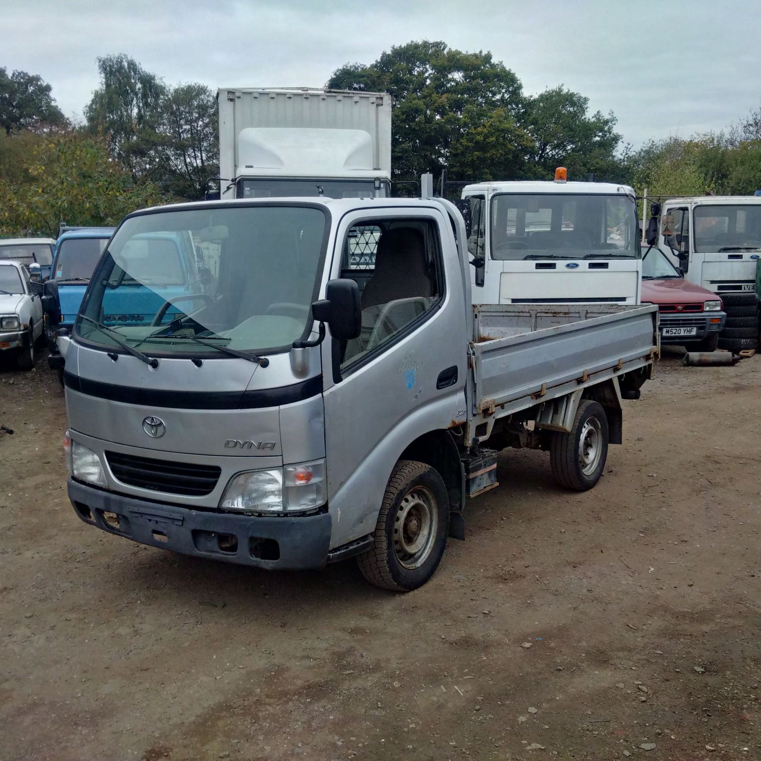 Left hand drive Toyota Dyna D4D 2.5 TD 3.5 Ton truck.