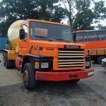 Left hand drive Scania 112H 6X4 36 Ton concrete mixer.