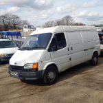Ford Transit 150 2.5 diesel long wheel base panel van.