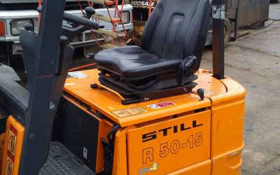 STILL R50-15 1.5 ton 3 wheeled electric forktruck. 5000 hrs.