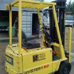 Hyster A1.5XL 3 wheeled electric forktruck.