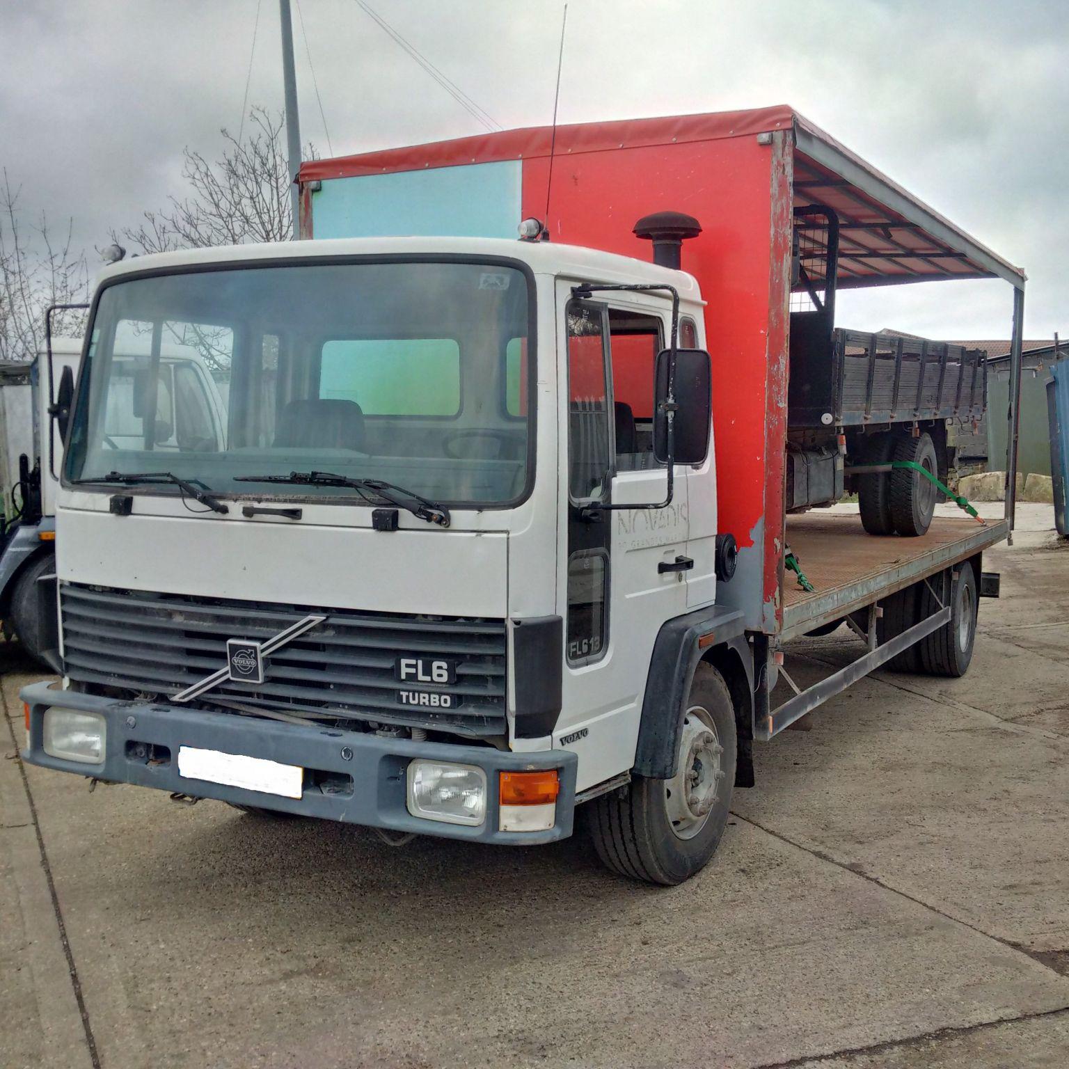 Left hand drive Volvo FL613 Turbo 13 ton truck.