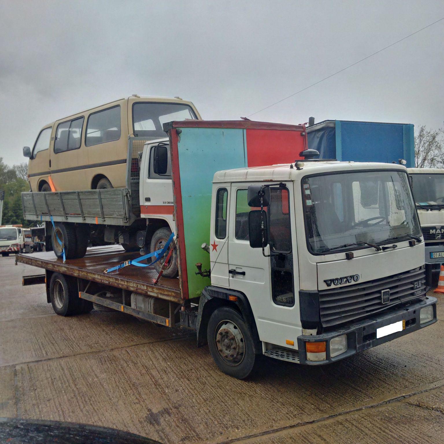 Left hand drive Volvo FL611 Turbo 11 ton truck.