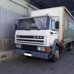 Left hand drive DAF 1900 Turbo Intercooling curtainsider with tail lift.