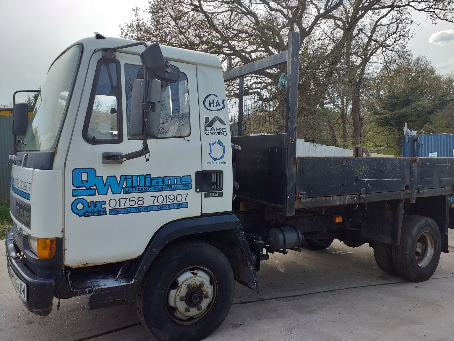 DAF FA45.150, ATi engine, 7.5 ton, Drop side Tipper truck YOM: 2000