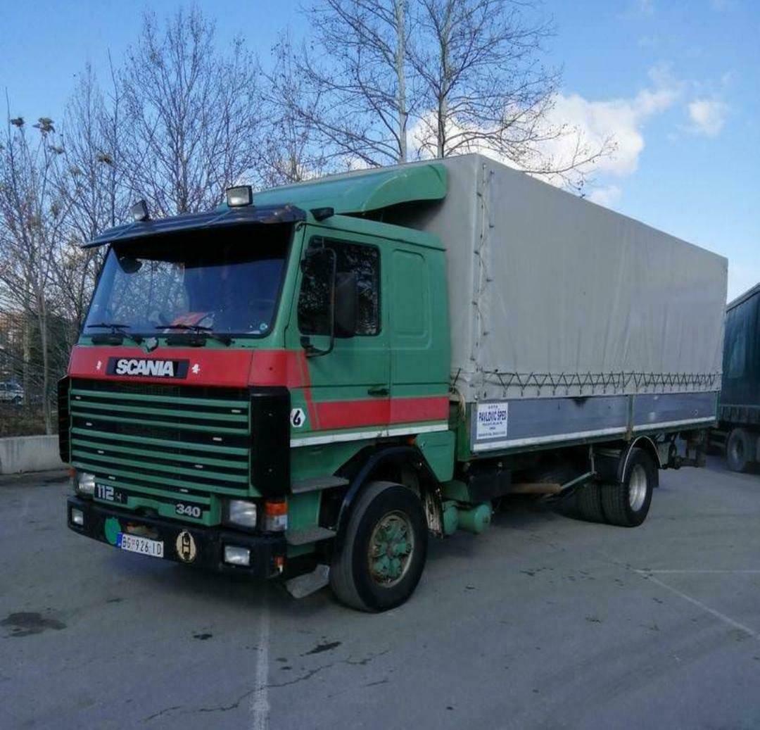 Left hand drive Scania 113 curtain-sider, 1991, Manual pump and injectors