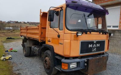 Left hand drive, MAN 18.272, 3 way tipper, 1995, Manual pump and injectors