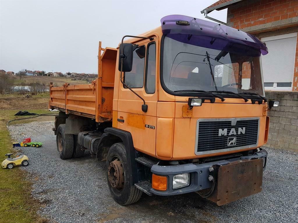 Left hand drive, MAN 18.272, 3 way tipper, 1995, Manual pump and injectors