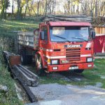 Left hand drive, Scania 113, 3 way tipper, 1993