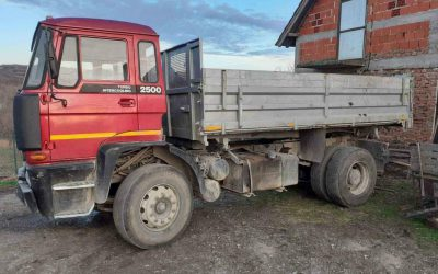 Left hand drive, DAF 2500, 3 way tipper, 1991, Manual pump and injectors