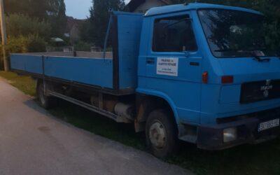 Left hand drive MAN 8.150 Drop-side truck