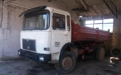 Left hand drive MAN 19.403, 4×4, 3 way tipper