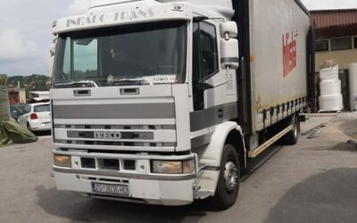 Left hand drive, Iveco Eurocargo 15 ton Curtainsider,